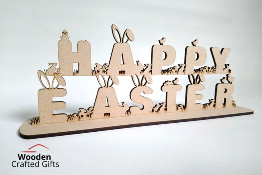 Freestanding Happy Easter Plaque