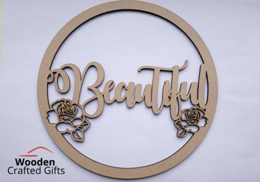 Personalised Name/Word + Roses Hoop  Size - Please select the size you require for price