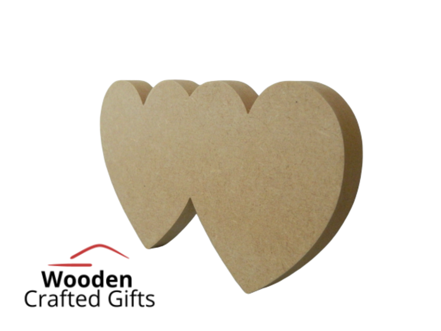 Freestanding Double Heart - Please select the size you require for price