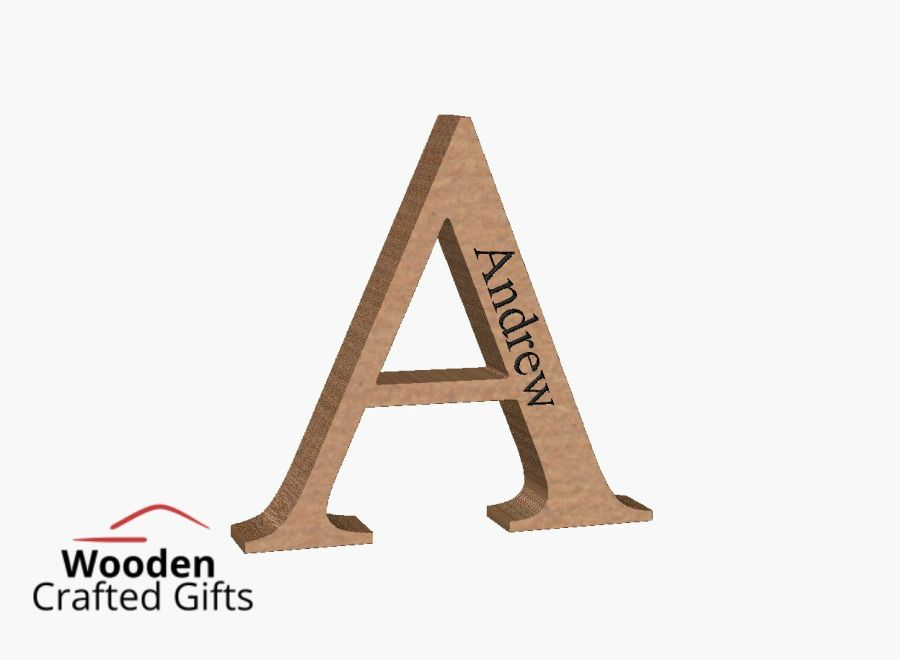 Freestanding Engraved Letters - Please select the size you require for price
