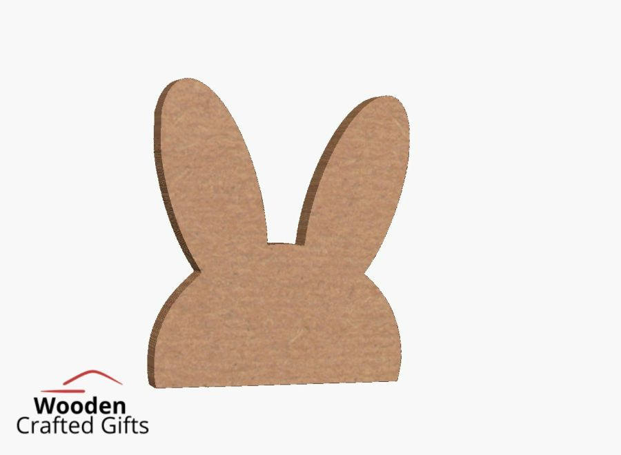 Freestanding Straight Bunny Ear/Half Face - Please select the size you require for price