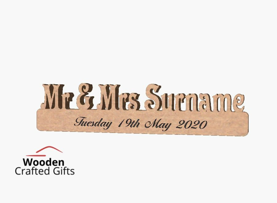 Freestanding Mr & Mrs Surname - Price seen is for Mr & Mrs - For surname as well please select the amount of letters in your surname