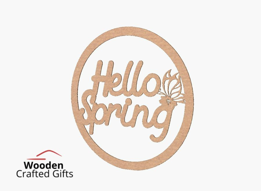 Hello Spring  Hoop - Please select the size you require for price
