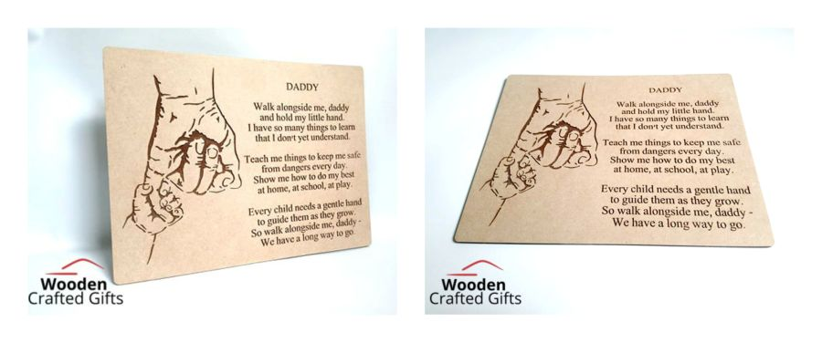 Daddy Hanging Plaque
