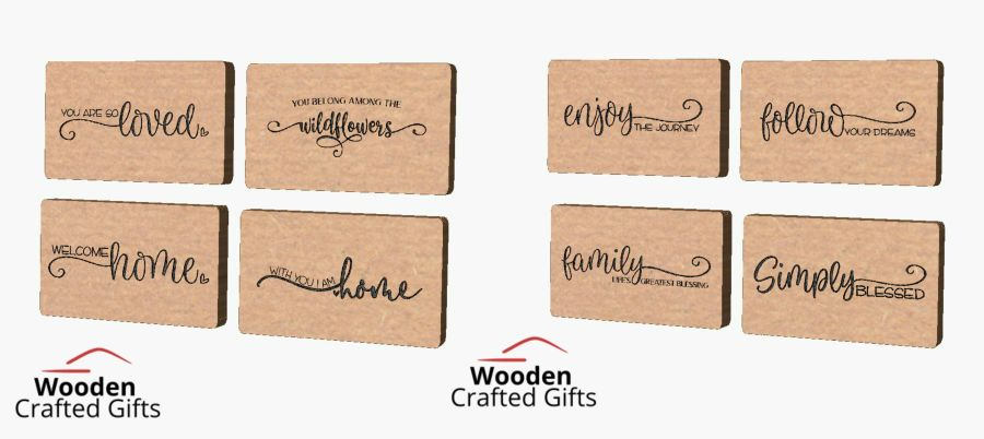 Freestanding Quote Plaques Set of 8