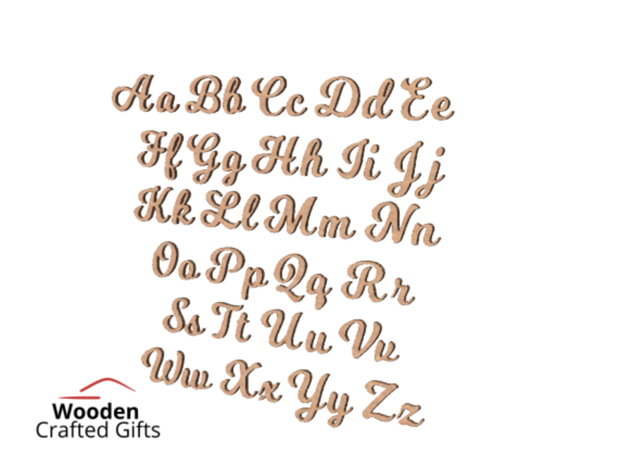 Laser Cut Letters Milkshake Font - Please select size for correct price