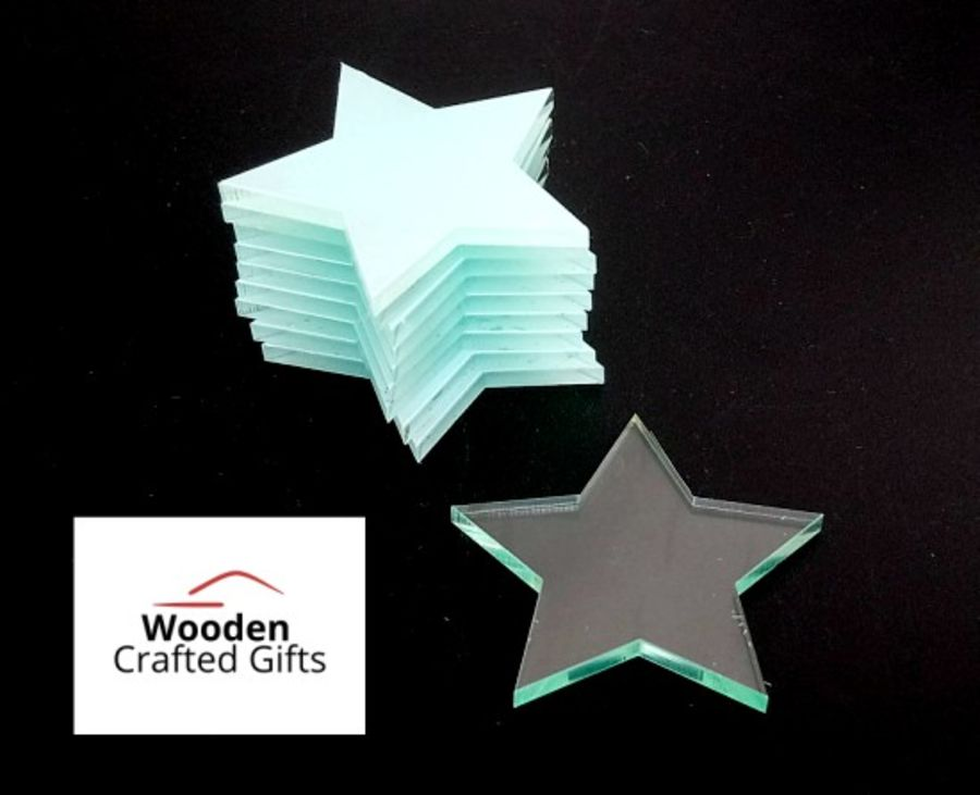 Plain Glass Effect Star Shapes Acrylic - Please select pack size for correct price