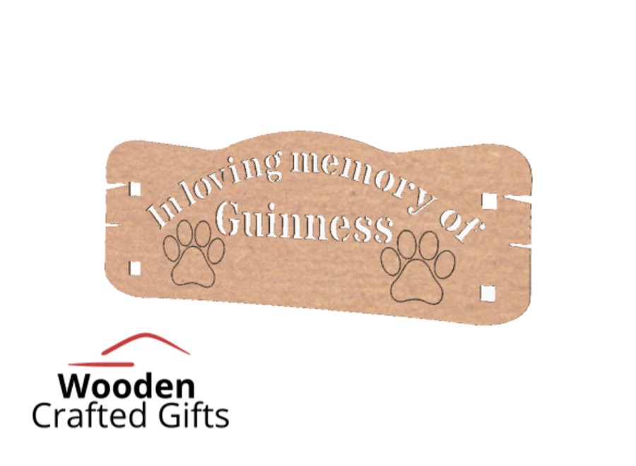 Personalised Freestanding Pet Memorial Bench