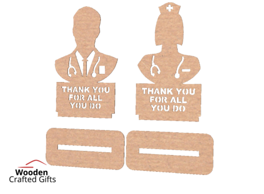 Freestanding Dr - Nurse - THANK YOU FOR ALL YOU DO Pack of 10