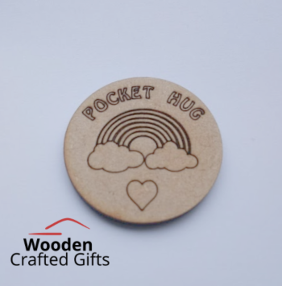 Circle Etched Pocket Hugs 4cm