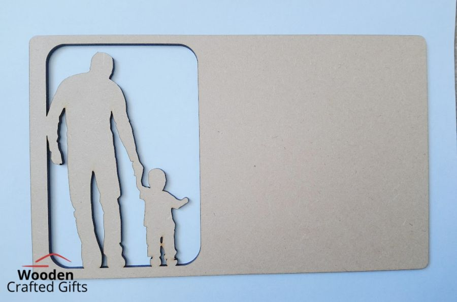 Hanging Daddy + Child Plaque