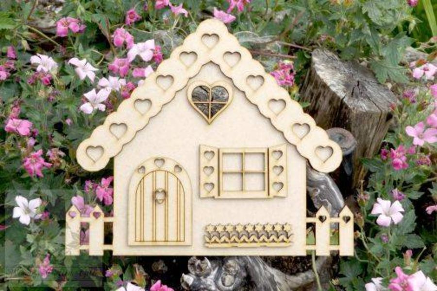 Heart Cottage With 3D Parts