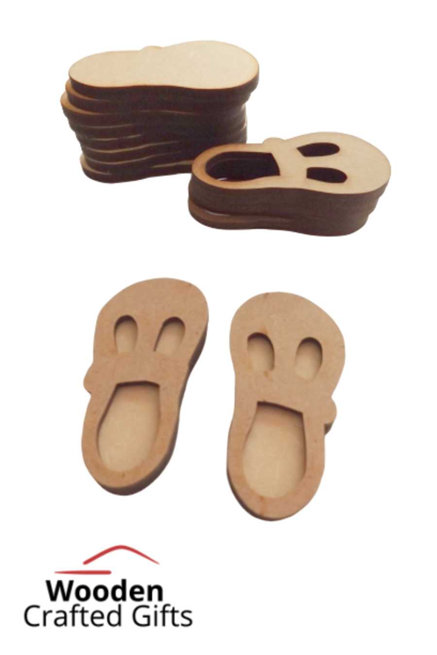 Baby Shoes - 2 Parts - Front & Back
