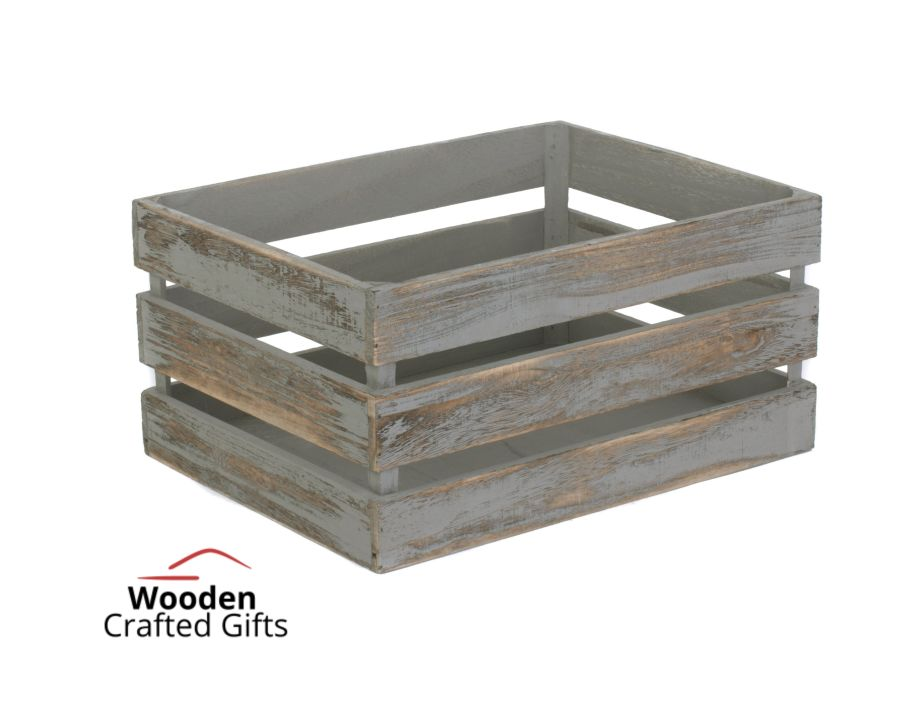 Slatted Wooden Crate - Comes With Free Vinyl Wording