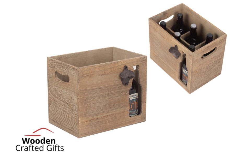 6 Beer Holder With Bottle Opener - With A Beer Bottle Cut-out