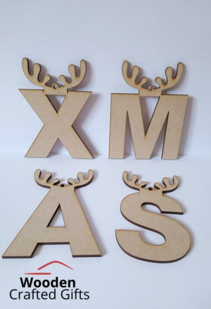 Hanging Antler Letters 8cm - 6mm thick