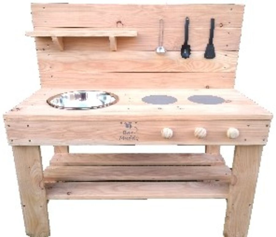 Ladybird Mud Kitchen in Natural - Bee Muddy Mud Kitchens