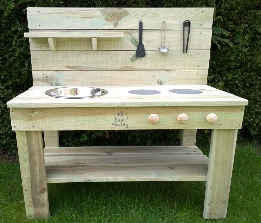 Ladybird Mud Kitchen in Natural (also available with oven)