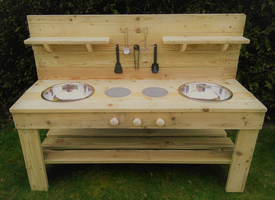DragonFly Mud Kitchen in Wood Oil (also available with oven)