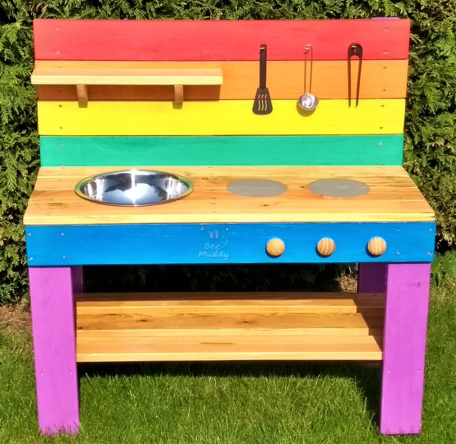 Ladybird Mud Kitchen in Rainbow (also available with oven)