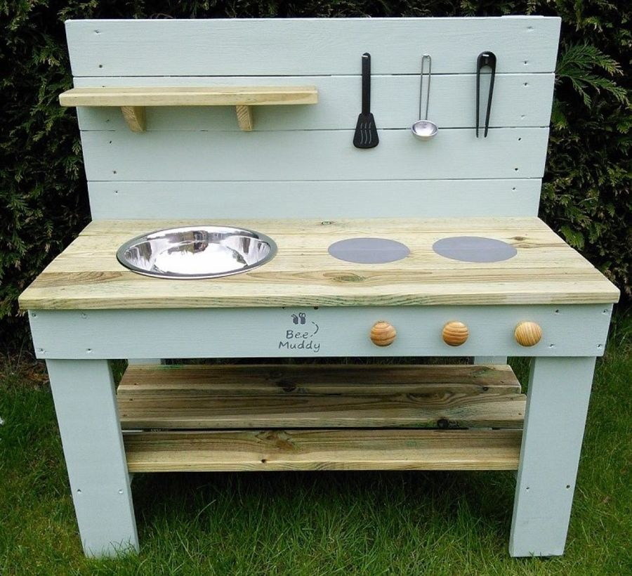 Ladybird Mud Kitchen in Painted (also available with oven)