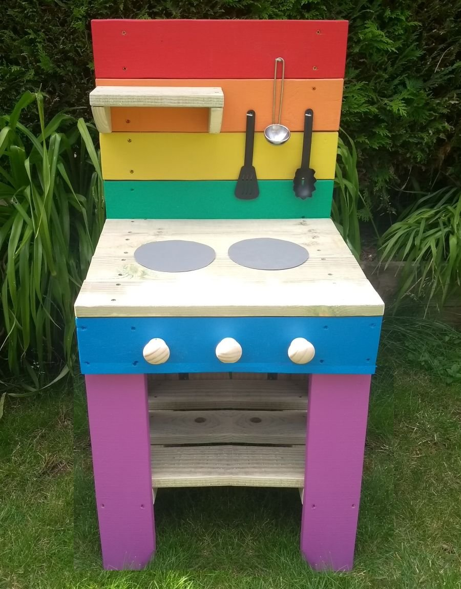 FireFly Mud Kitchen in Rainbow (also available with oven)