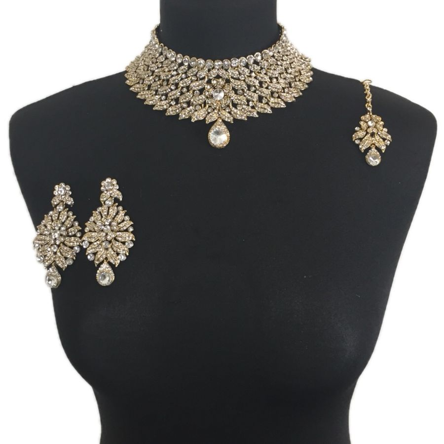 indian collar necklace set NCK0363
