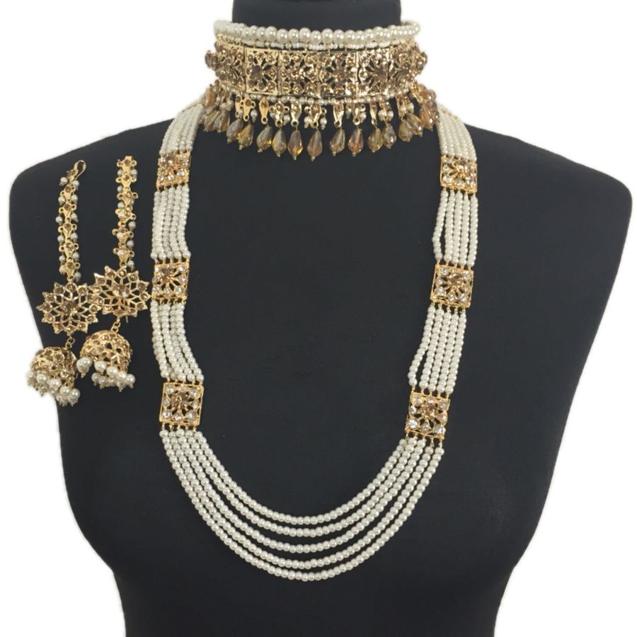 hyderabadi golden necklace set NCK0368