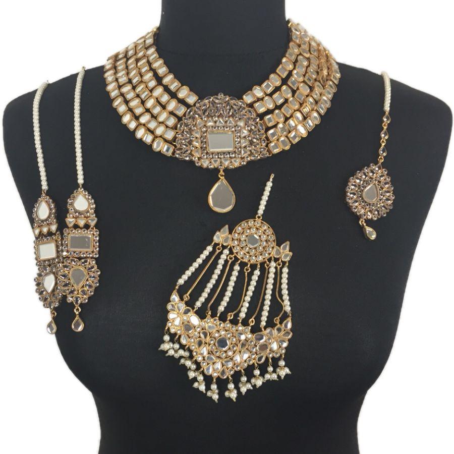 kundan pakistani bridal jewellery BRD0349