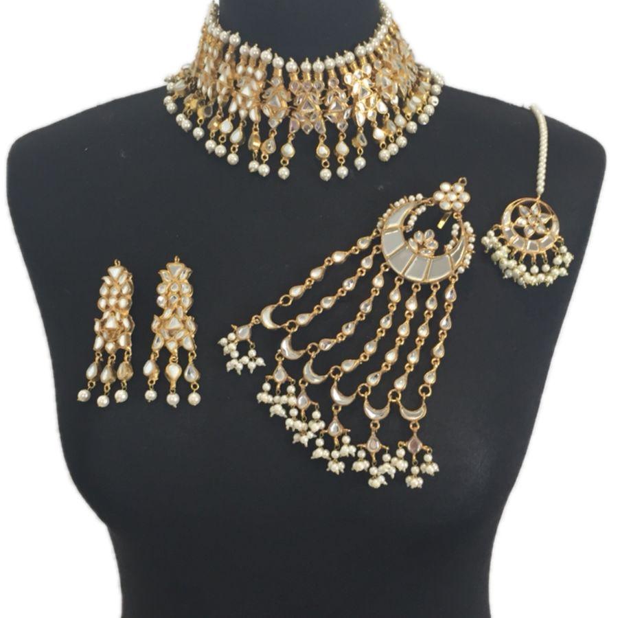 pakistani kundan bridal jewellery set BRD0355