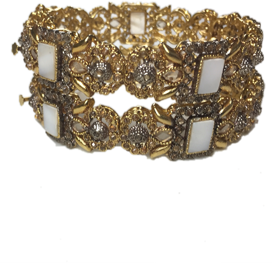 golden pakistani karra bangle BNG0322
