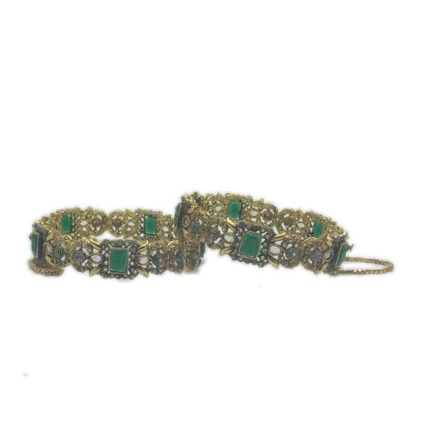 green pakistani karra bangle BNG0327