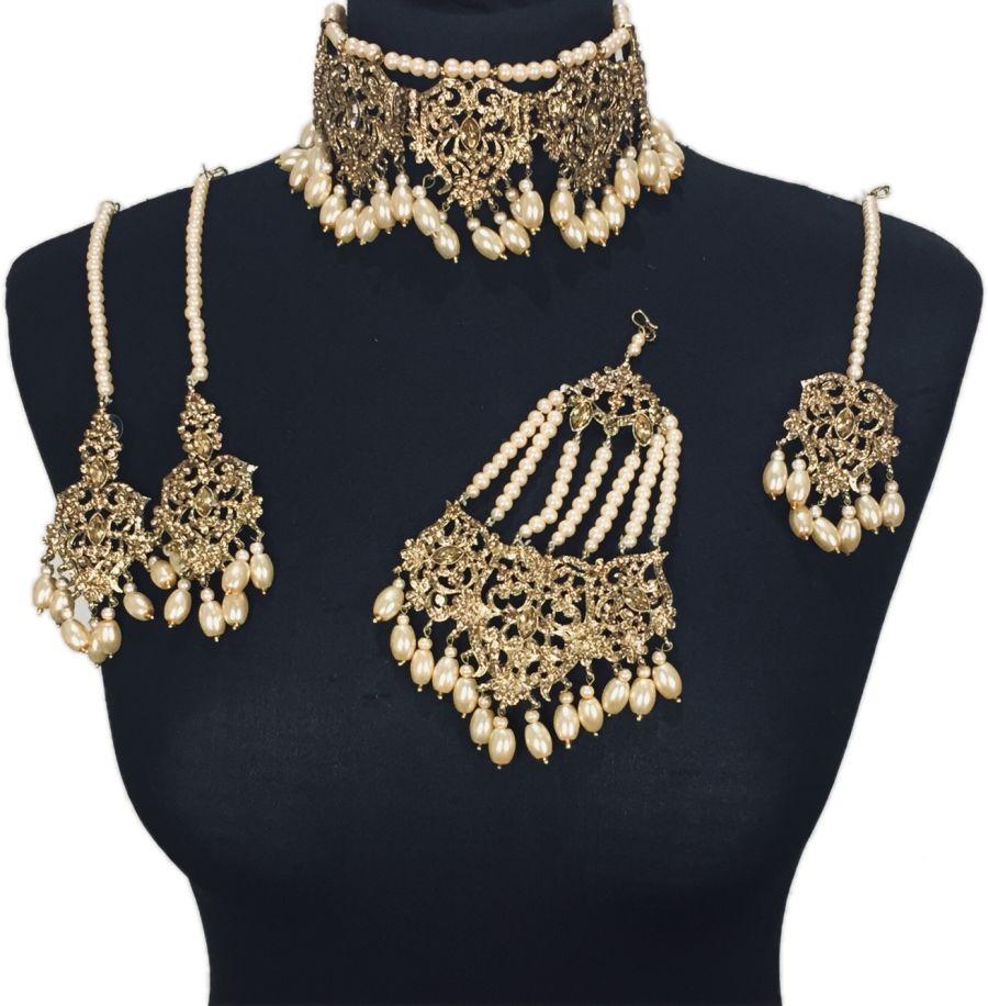 golden champagne asian jewellery set BRD0423