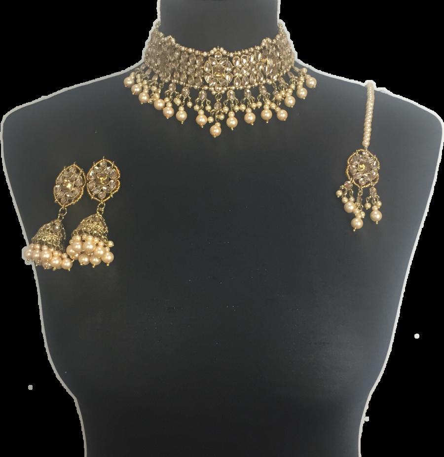 golden indian jewellery set NCK0403
