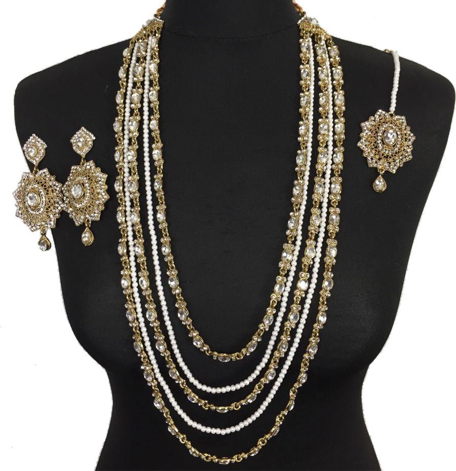 golden indian mala set NCK0409