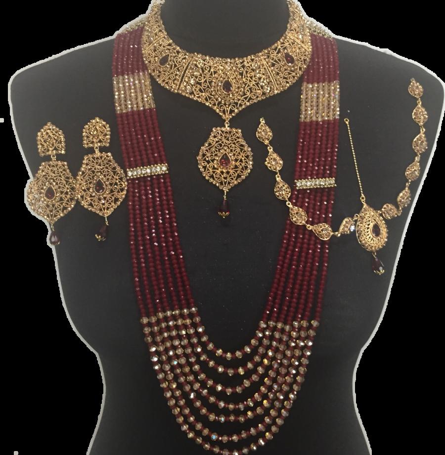Patti bridal set matha Punjabi Matha