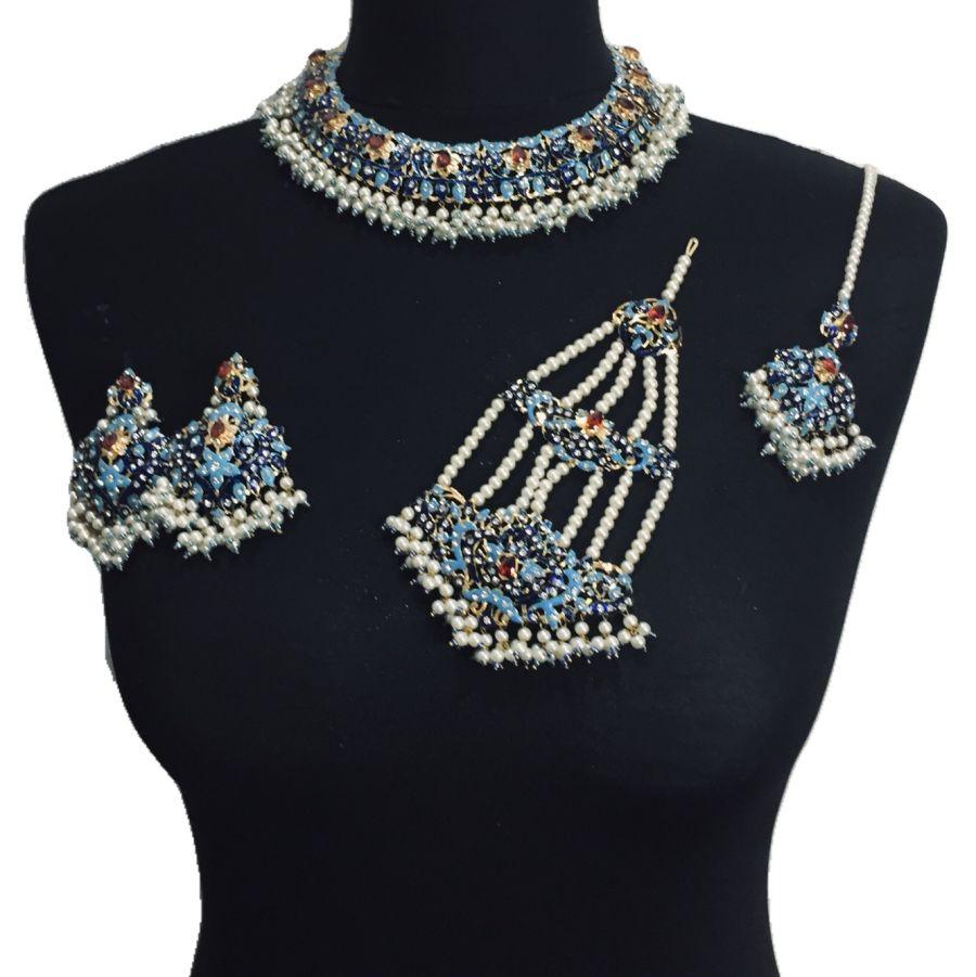pakistani meena bridal jewellery set BRD0374