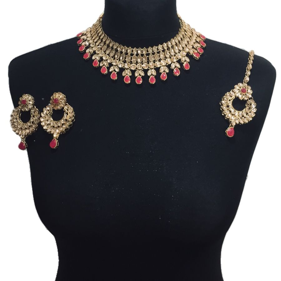 red necklace set NCK0431