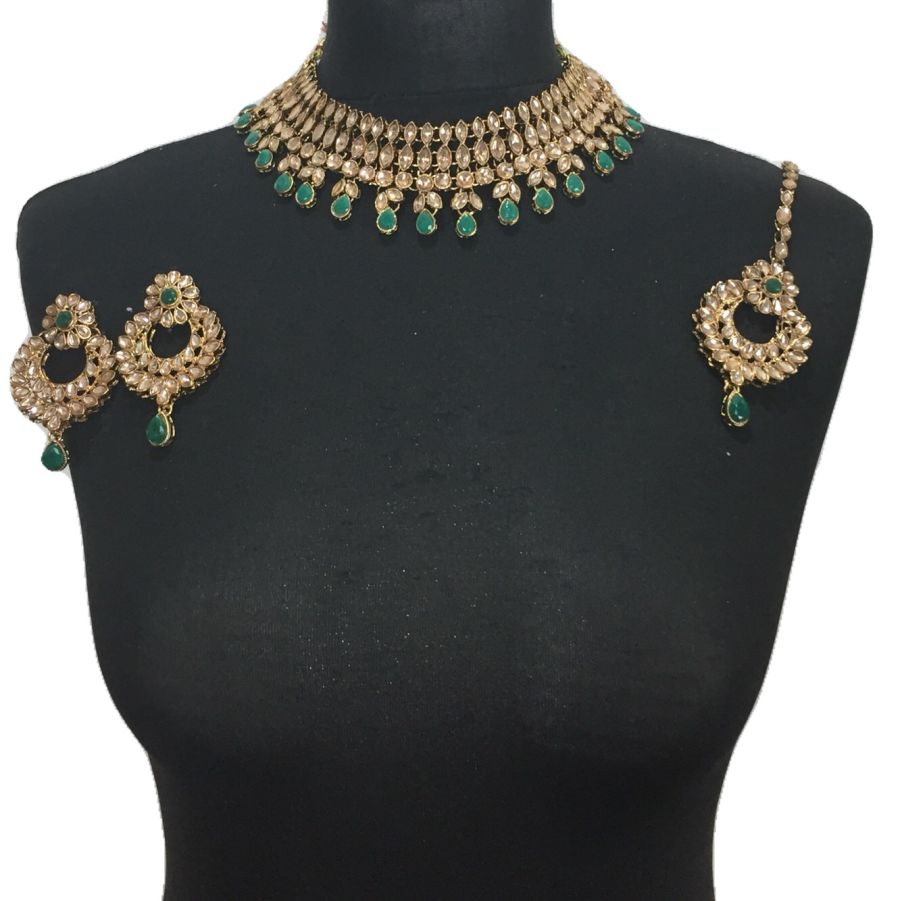 green necklace set NCK0433