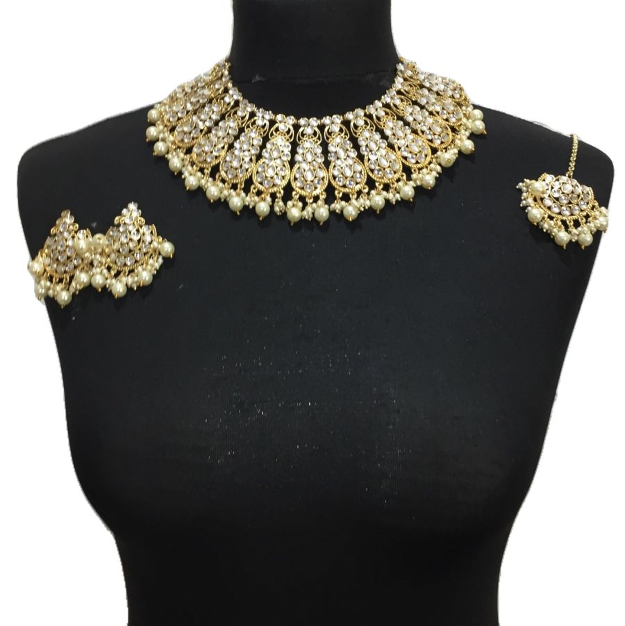 golden necklace set NCK0435