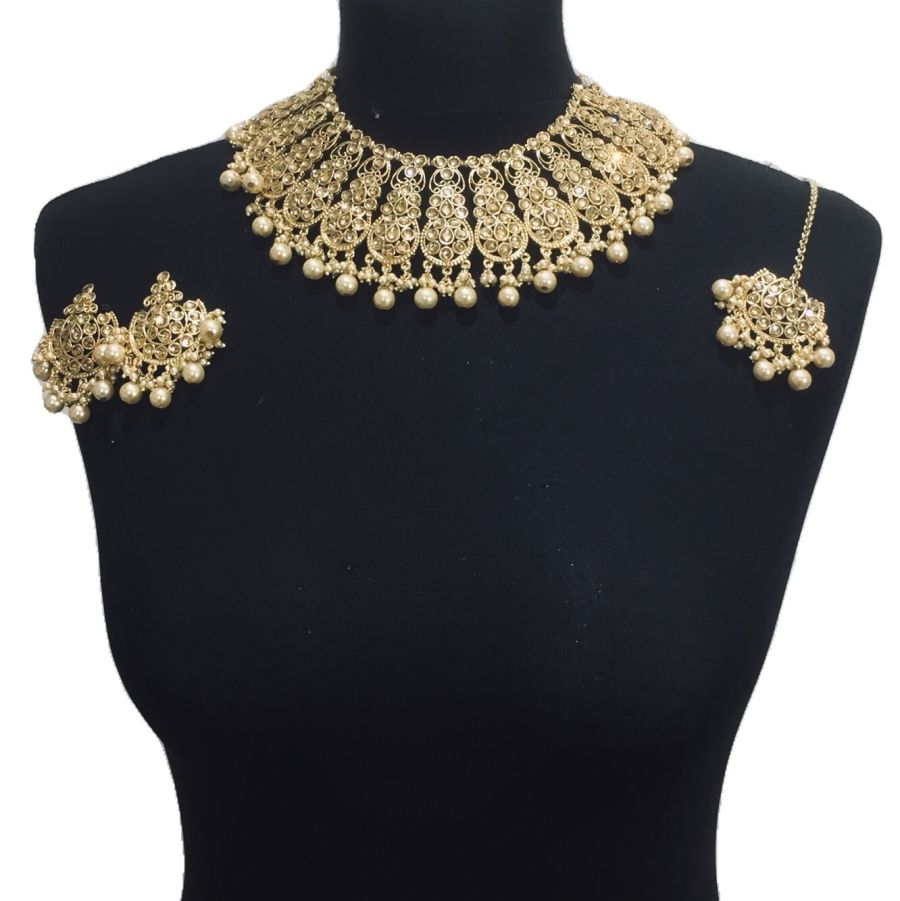 golden necklace set NCK0436