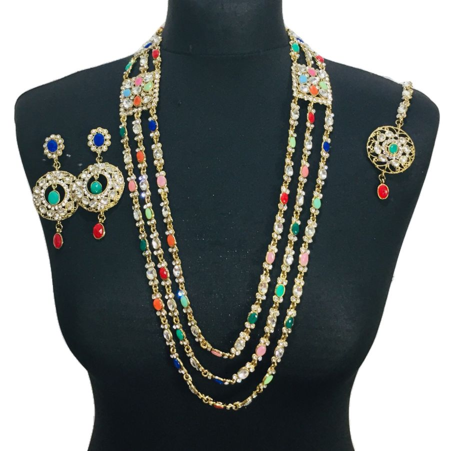 multicoloured mala set NCK0446