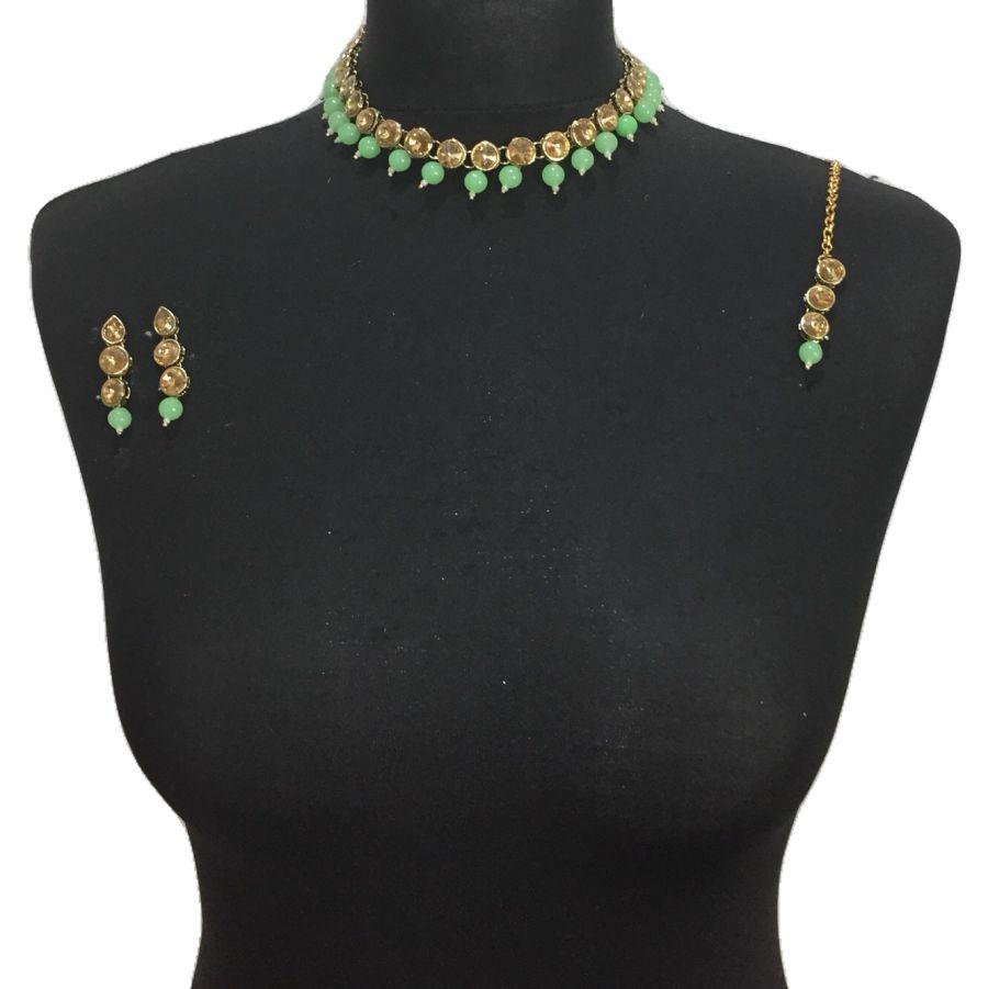 mint necklace set NCK0461