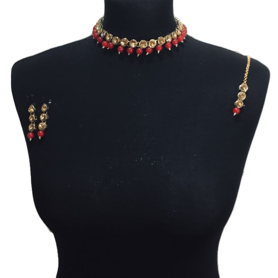 red necklace set NCK0464