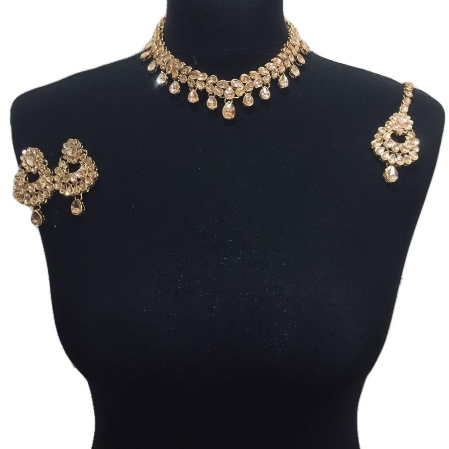 golden necklace set NCK0472