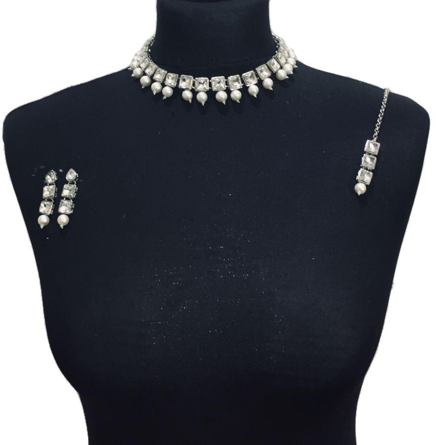 silver necklace set NCK0476