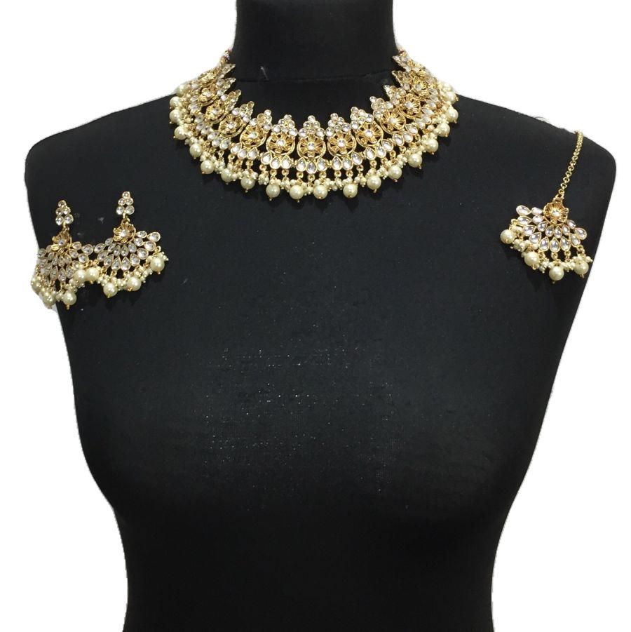 golden necklace set NCK0496