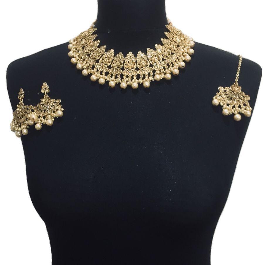 golden necklace set NCK0497