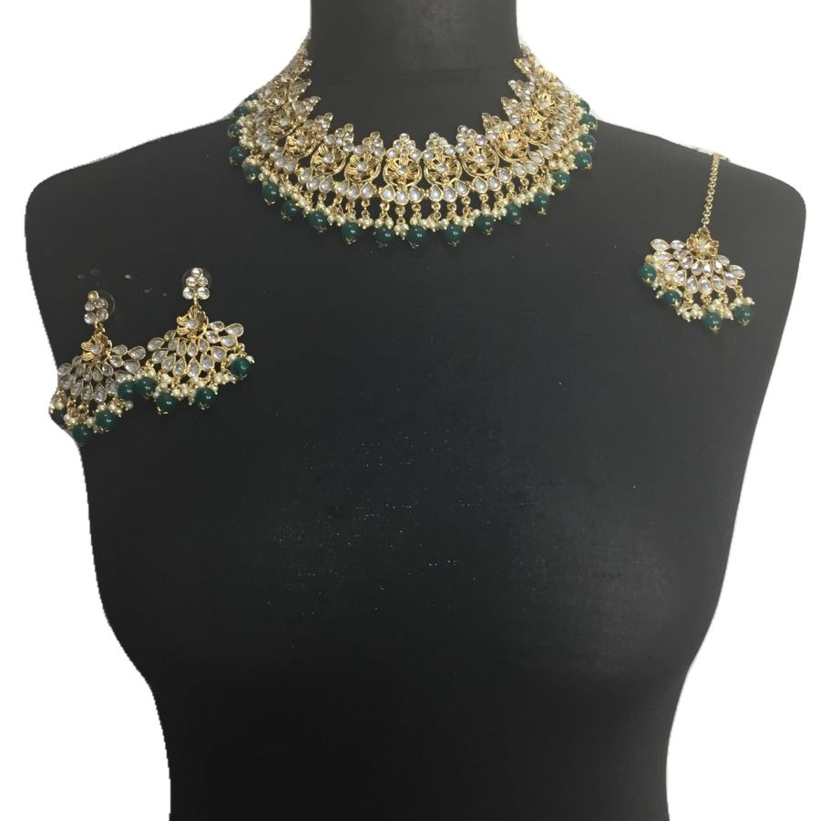 green golden necklace set NCK0502