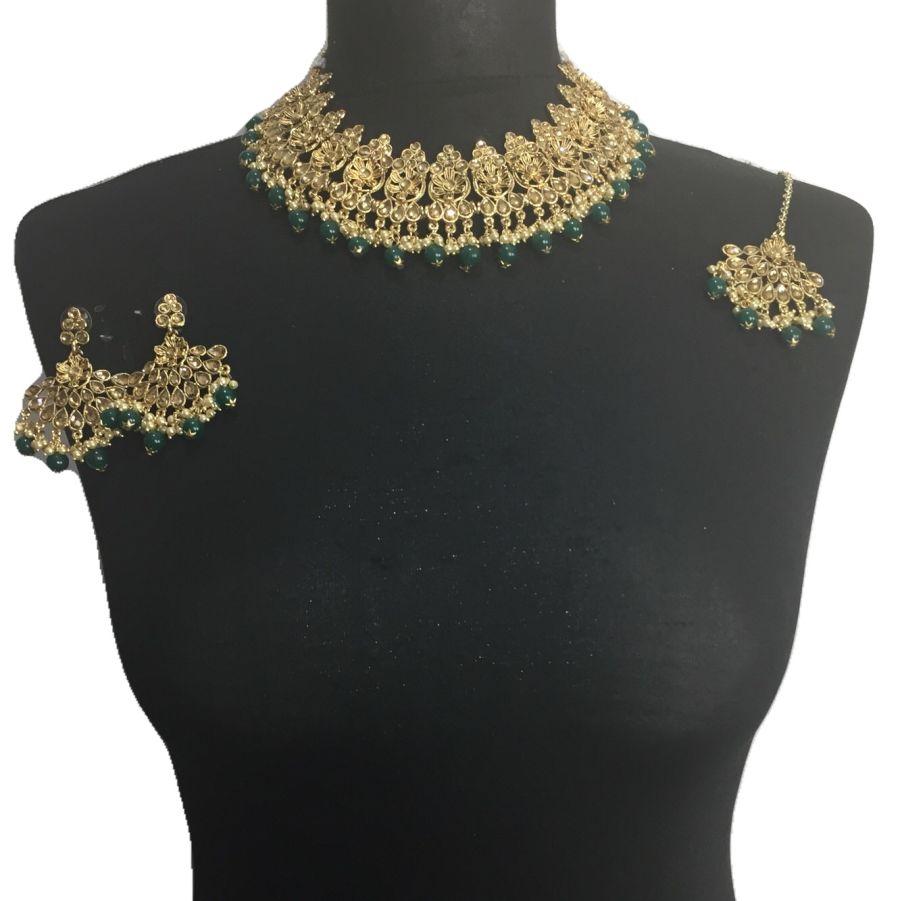 green golden necklace set NCK0503